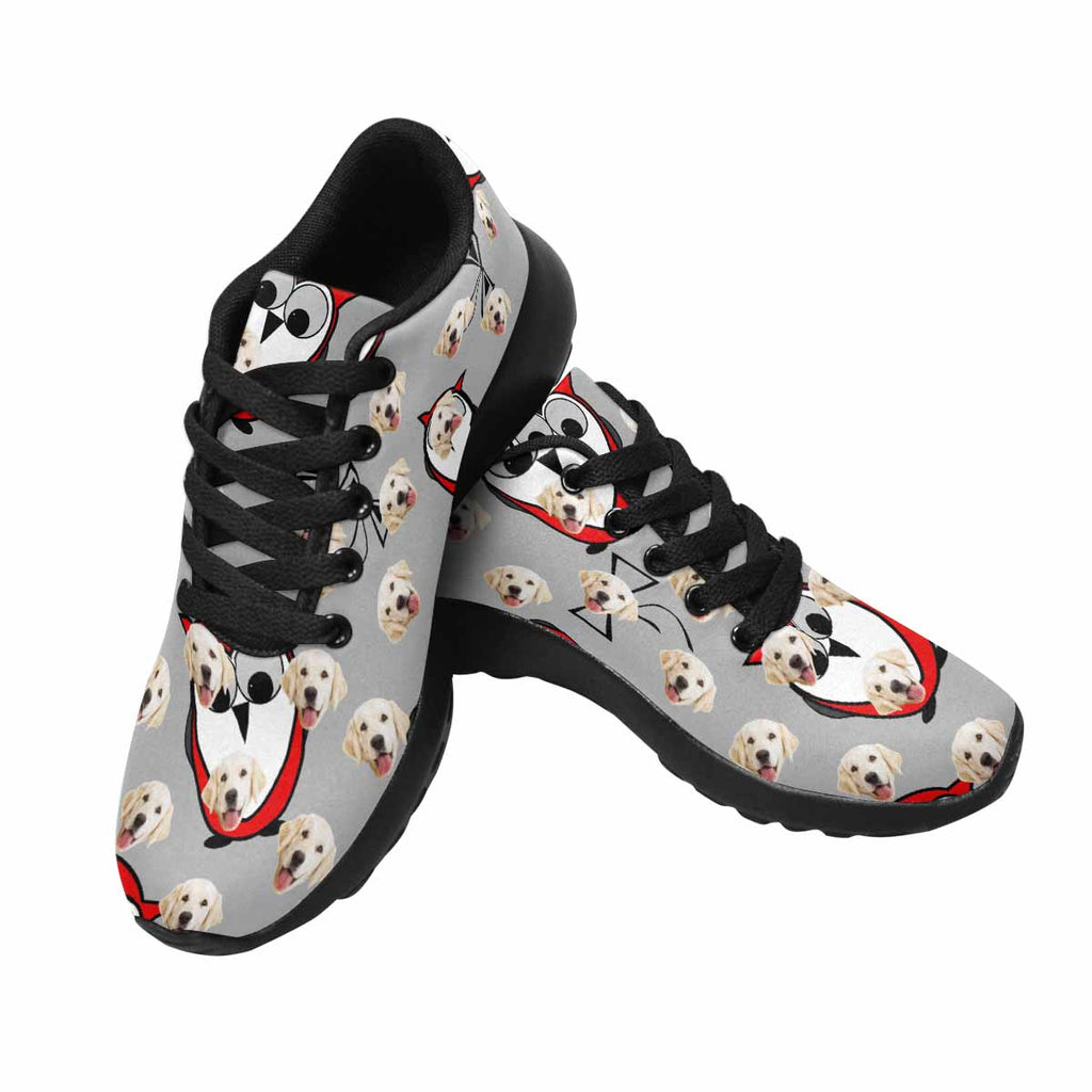 Custom Printed Red Owls Men's Pup Sneakers