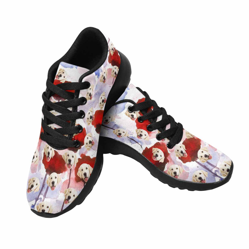 Personalized Picture Watercolor Poppies Women's Pup Sneakers