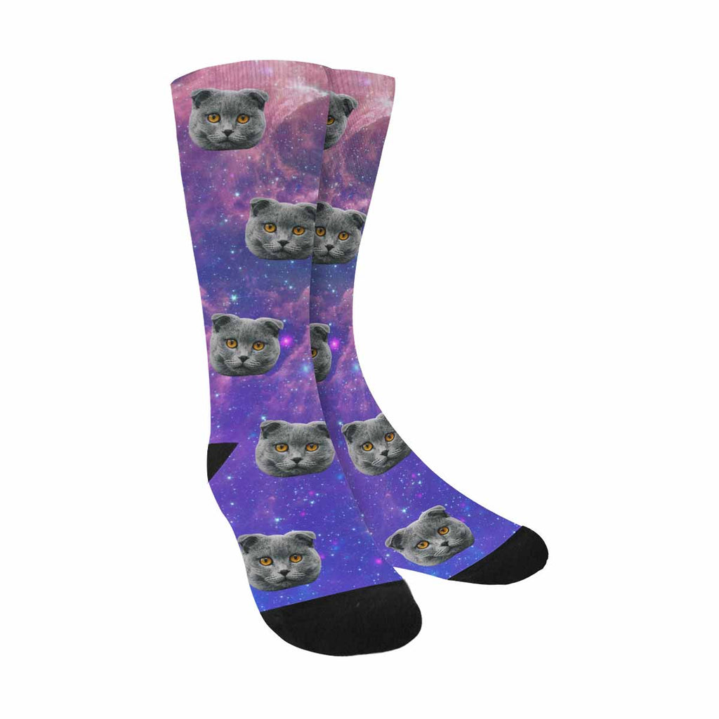 Personalized Picture Stars Pet Socks Galaxy