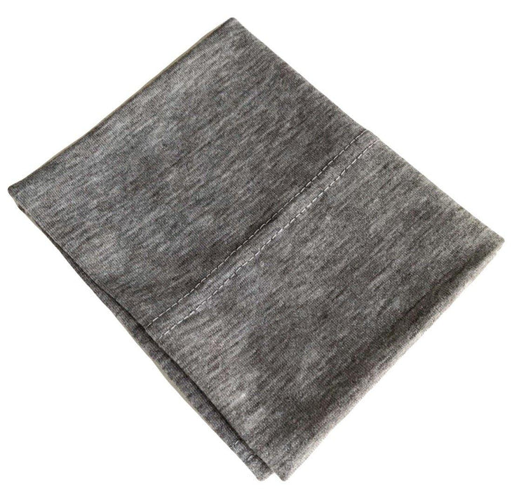 Cotton Jersey Underscarf - Light Grey Marl - Sabaah's Boutique
