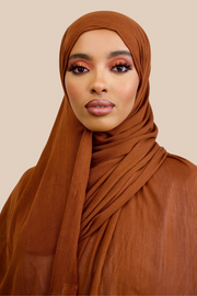 Crinkled Rayon | Cinnamon - Sabaah's Boutique
