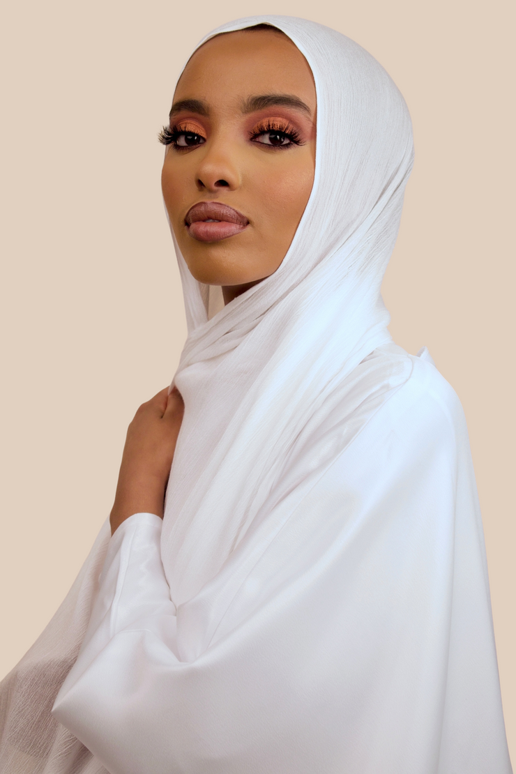 Crinkled Rayon | White - Sabaah's Boutique