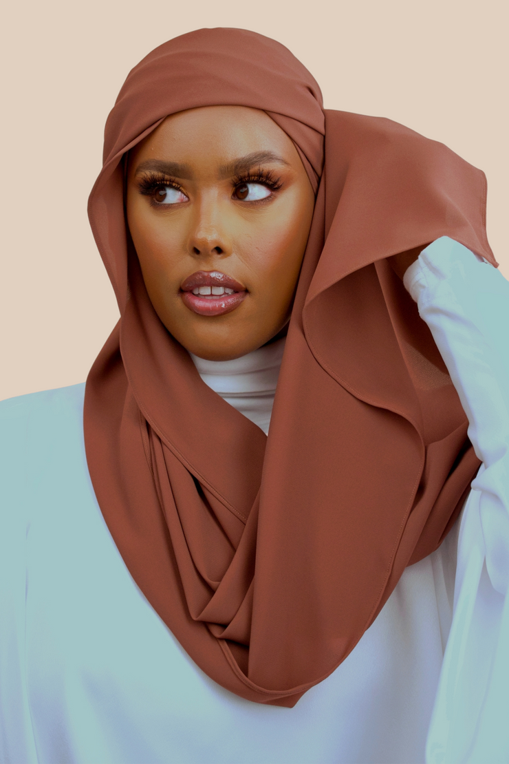 Deluxe Chiffon | Walnut - Sabaah's Boutique