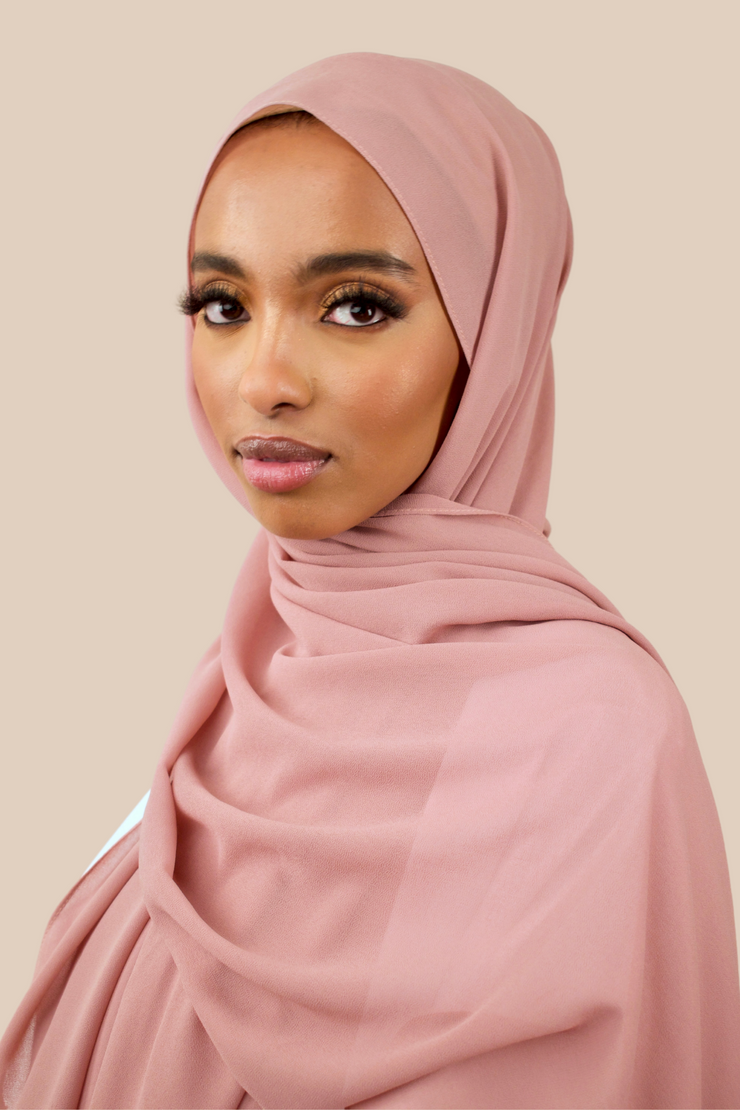 Premium Chiffon Hijab | Rose Brown - Sabaah's Boutique
