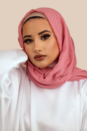 Premium Crimped Cotton Hijab | Dusty Pink - Sabaah's Boutique