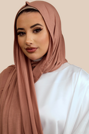 Premium Jersey Hijab | Cappuccino - Sabaah's Boutique