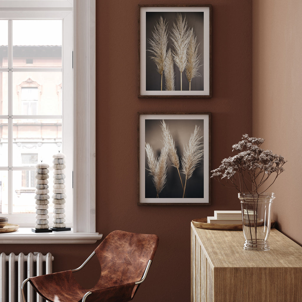 Dark Pampas Print Set