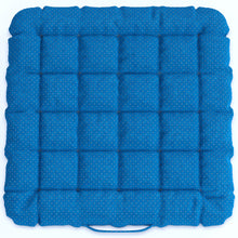 Load image into Gallery viewer, Buckwheat Hulls Seat Cushion - Blue