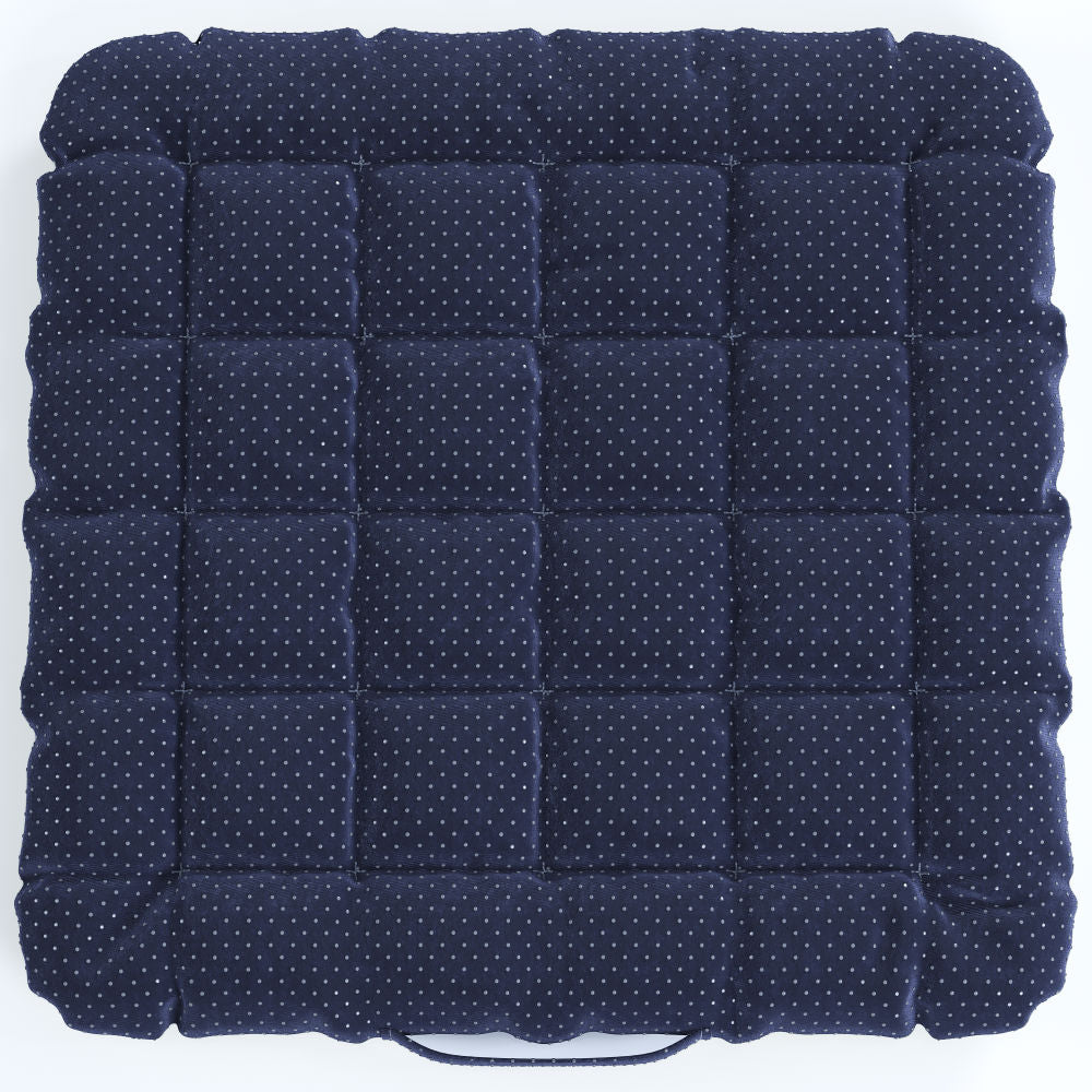 Buckwheat Hulls Seat Cushion - Navy Blue