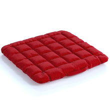 Load image into Gallery viewer, Buckwheat Hulls Seat Cushion - Red