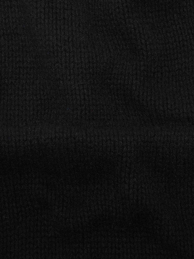 Recycled cashmere scarf—black