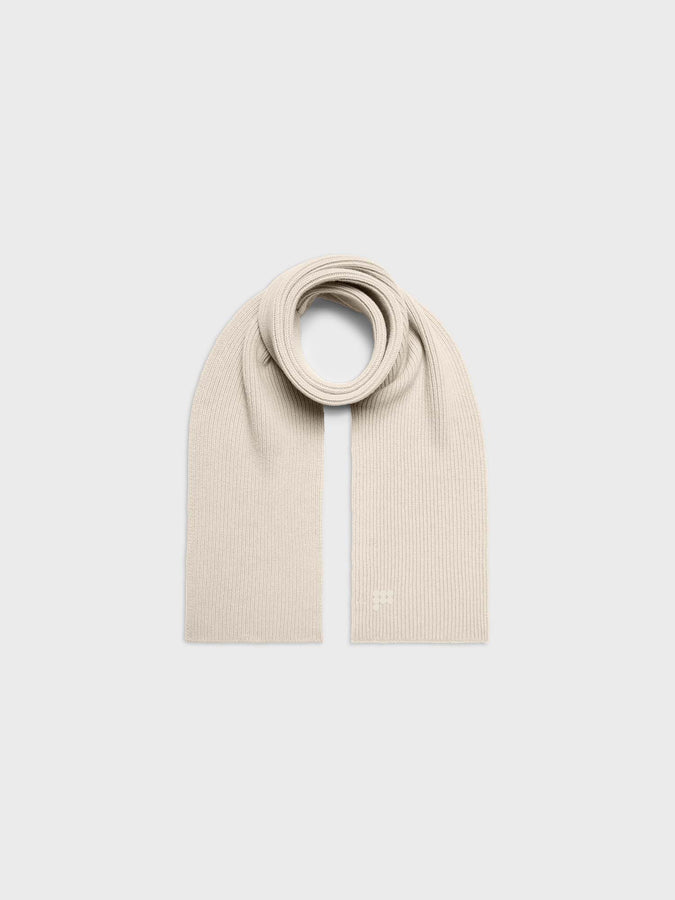 Recycled cashmere scarf—cream