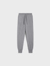 Women's recycled cashmere track pants—pale grey melange