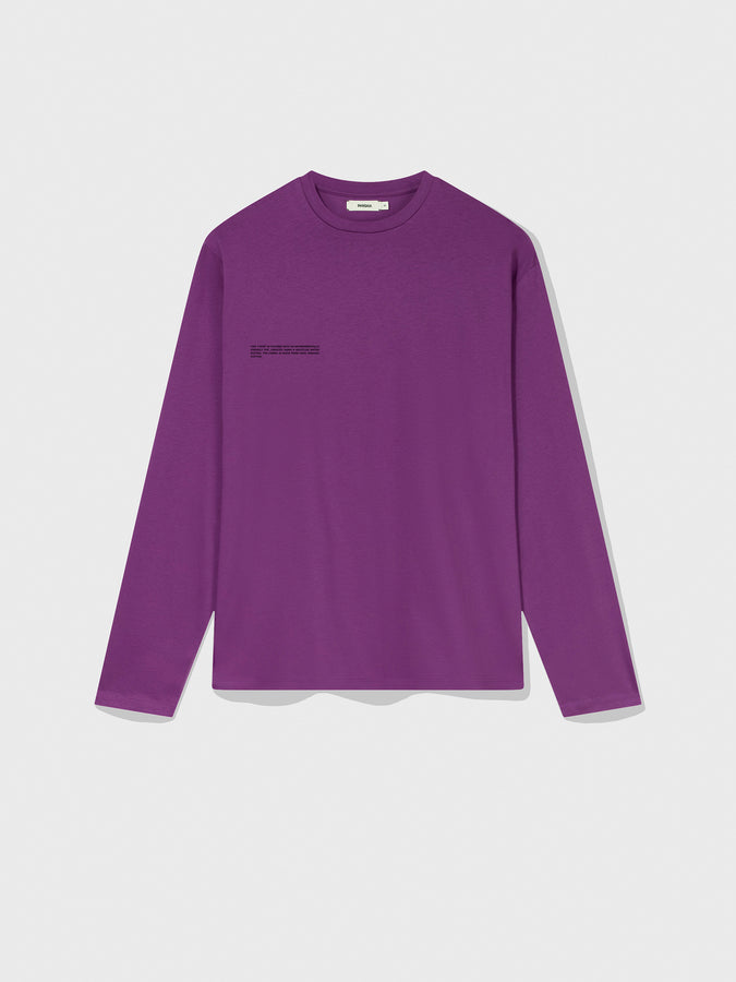 Organic cotton long sleeve t-shirt—purple coral