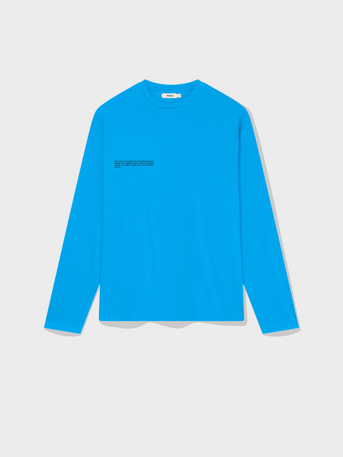 Organic cotton long sleeve t-shirt—sea blue