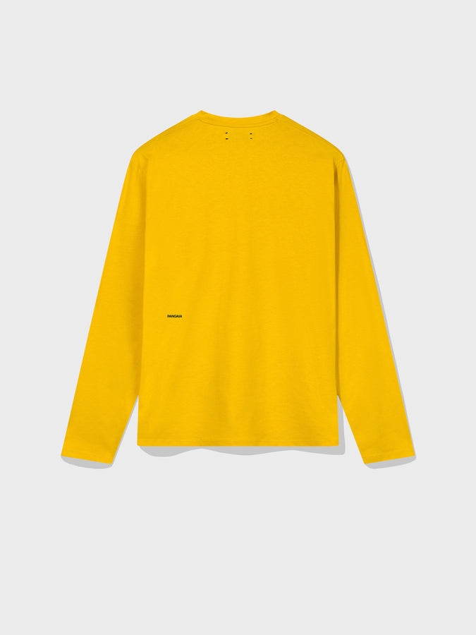 Organic cotton long sleeve t-shirt—starfish yellow