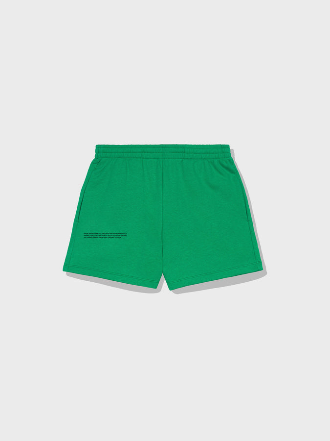 Lightweight recycled cotton shorts—marine green