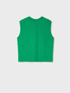 Organic cotton sleeveless t-shirt—marine green