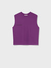 Organic cotton sleeveless t-shirt—purple coral