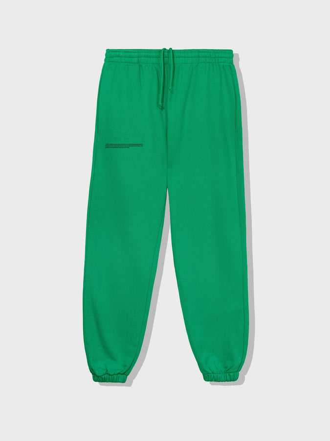 Lightweight recycled cotton track pants—marine green