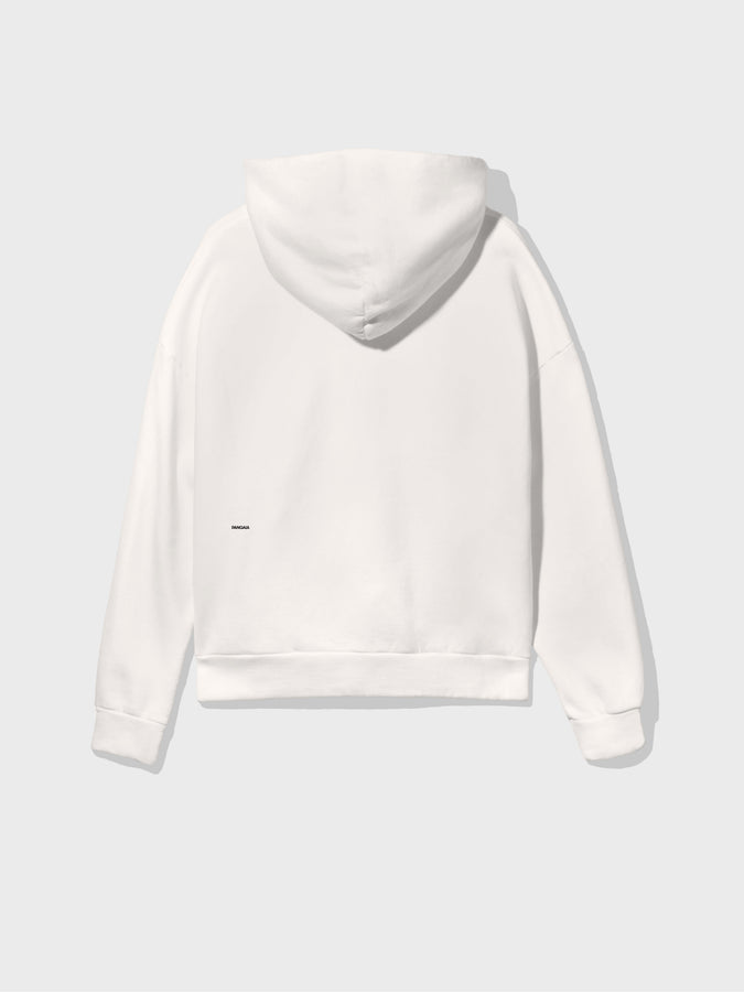 Lightweight recycled cotton hoodie—off-white