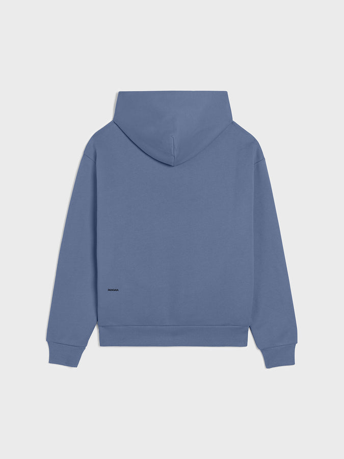 Heavyweight recycled cotton hoodie—arctic blue