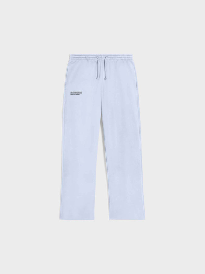 Heavyweight recycled cotton loose track pants—ice blue