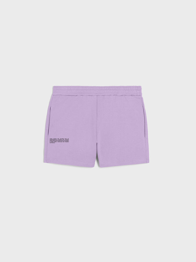 Heavyweight recycled cotton shorts—orchid purple