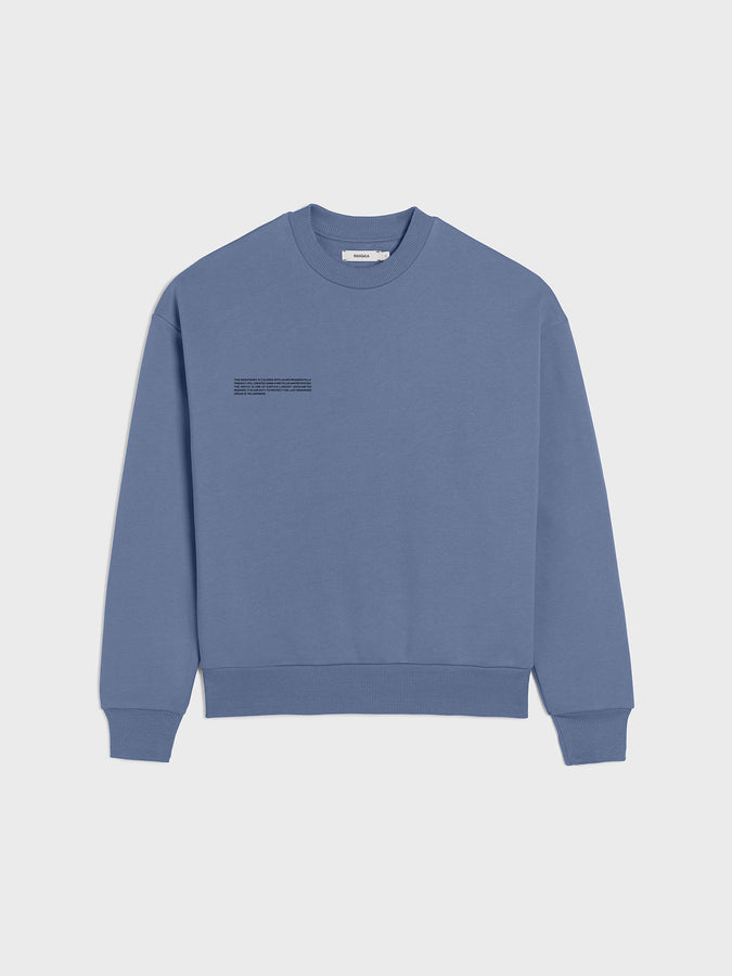 Heavyweight recycled cotton sweatshirt—arctic blue