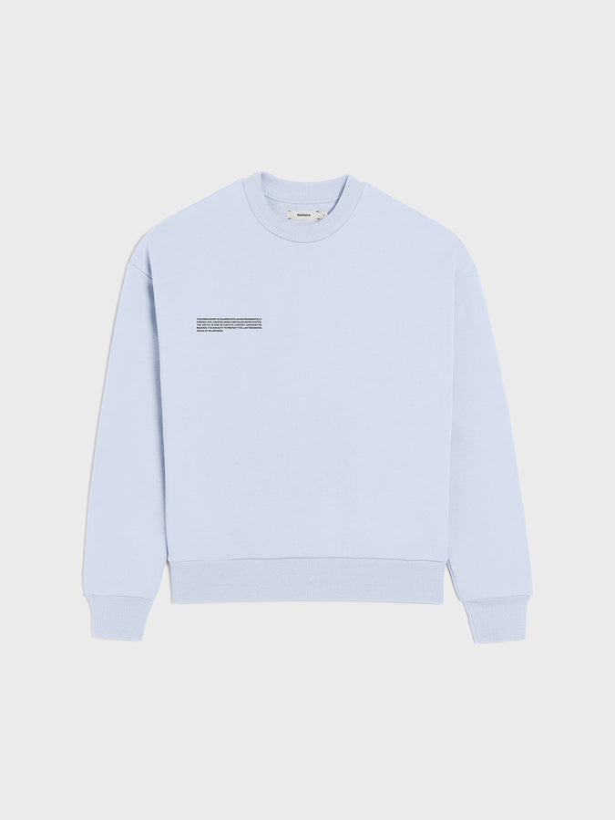 Heavyweight recycled cotton sweatshirt—ice blue
