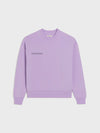 Heavyweight recycled cotton sweatshirt—orchid purple