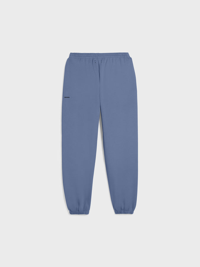 Heavyweight recycled cotton track pants—arctic blue