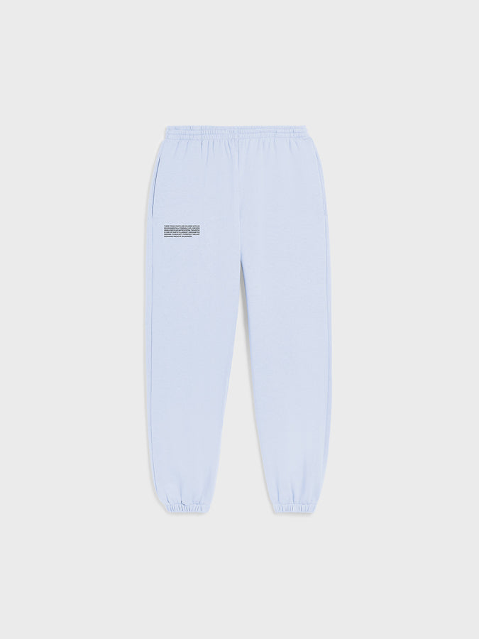 Heavyweight recycled cotton track pants—ice blue