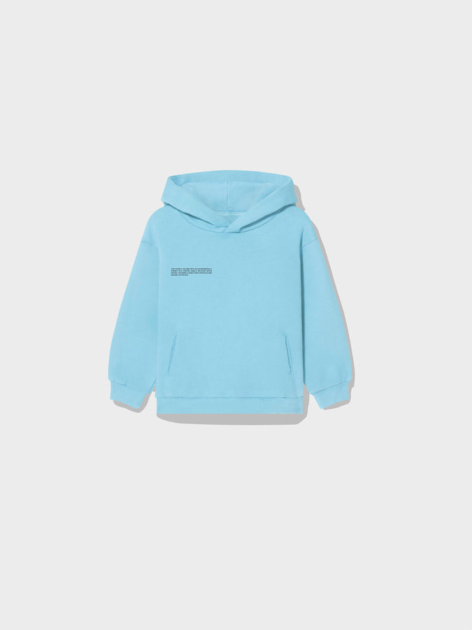 Kids recycled cotton hoodie—Celestial Blue