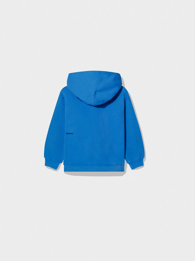 Kids recycled cotton hoodie—Cobalt Blue