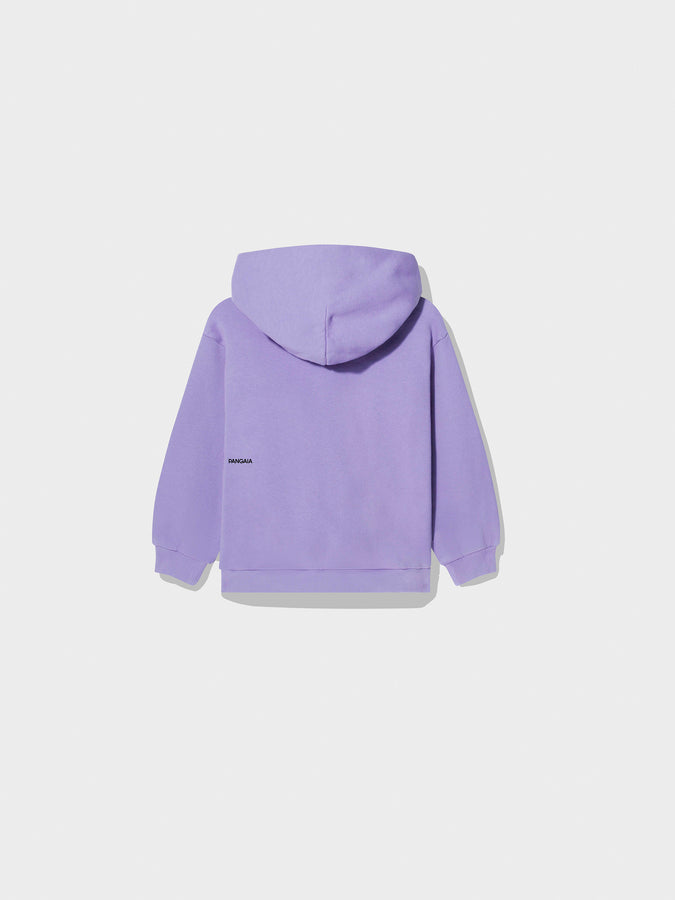 Kids recycled cotton hoodie—Orchid Purple