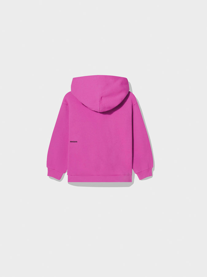 Kids recycled cotton hoodie—Flamingo Pink