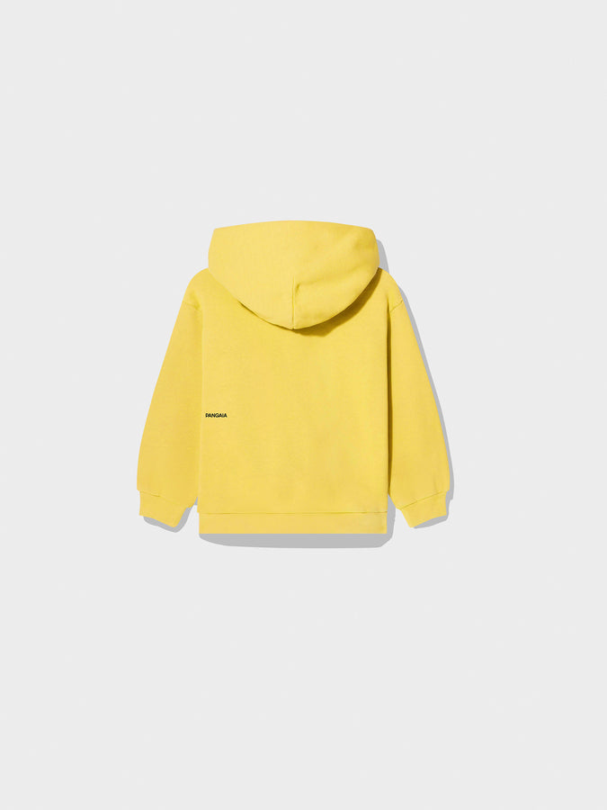 Kids recycled cotton hoodie—Saffron Yellow