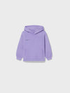Kids organic cotton hoodie—orchid purple