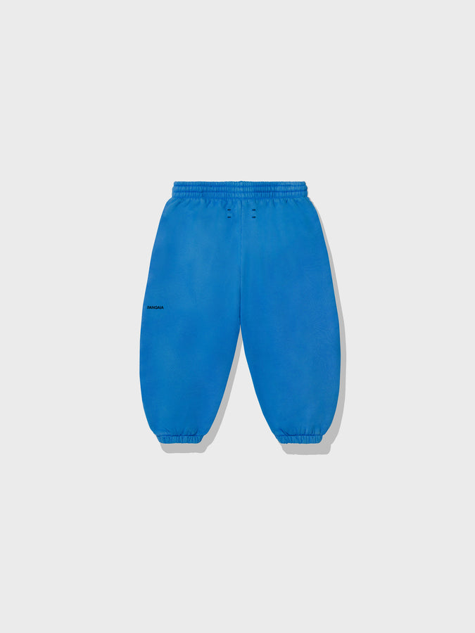 Kids lightweight organic cotton track pants—cobalt blue