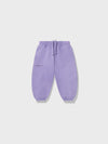 Kids organic cotton track pants—orchid purple