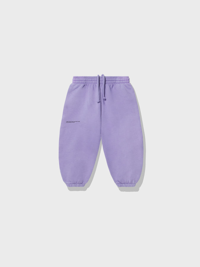 Kids lightweight organic cotton track pants—orchid purple