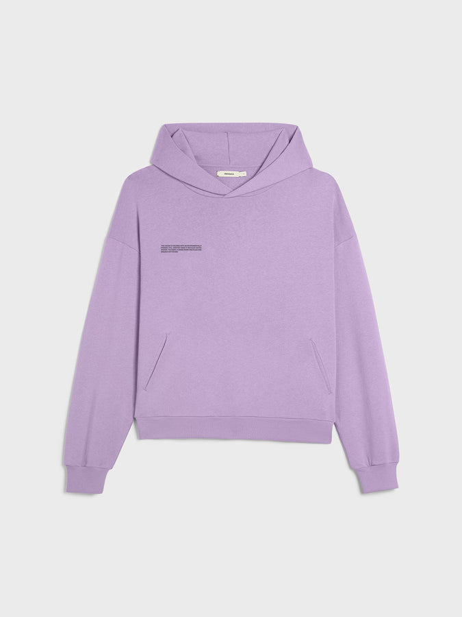 Lightweight recycled cotton hoodie—orchid purple