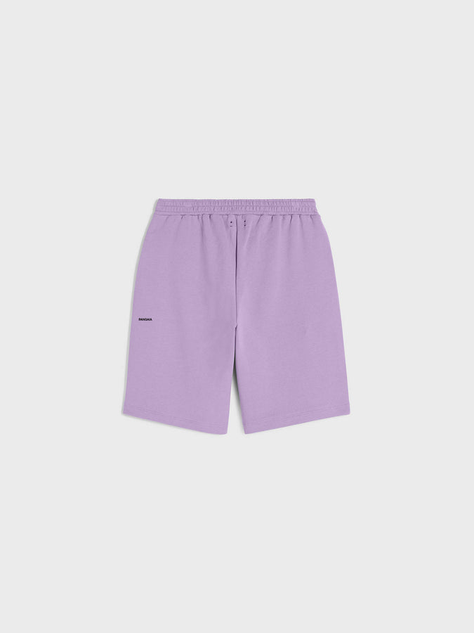 Lightweight recycled cotton long shorts—orchid purple