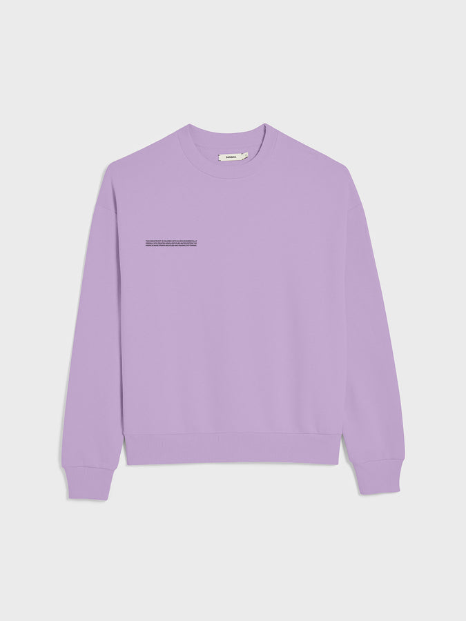 Lightweight recycled cotton sweatshirt—orchid purple
