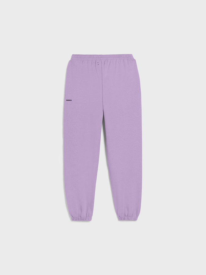 Lightweight recycled cotton track pants—orchid purple