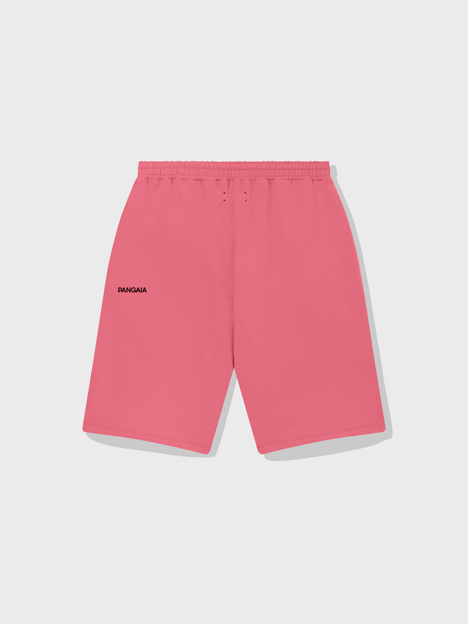 Lightweight recycled cotton long shorts—mineral red