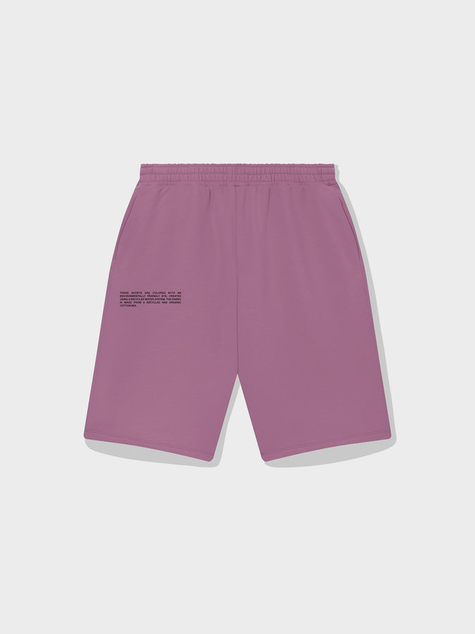 Lightweight recycled cotton long shorts—plum purple