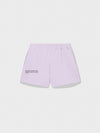 Lightweight recycled cotton shorts—earl grey