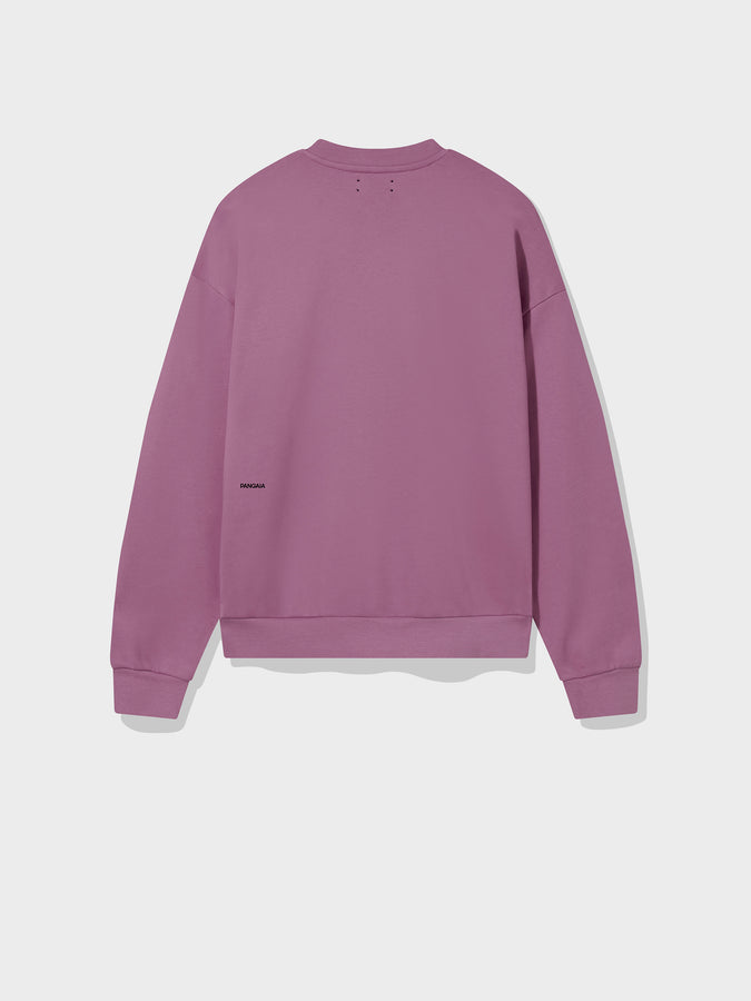 Lightweight recycled cotton sweatshirt—plum purple
